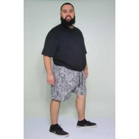 Shorts Tactel Estampado Cinza