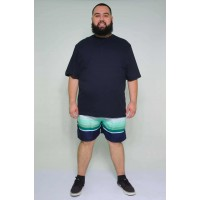 Shorts Tactel Listrado Verde