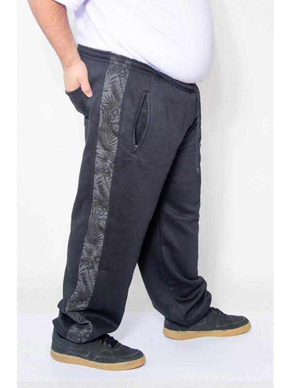 Calça Moleton com Faixa Estampada Plus Size