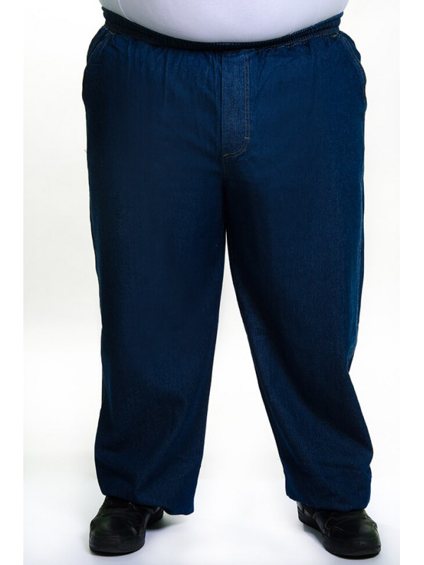 Calça Jeans com Elástico na Cintura Azul Tradicional