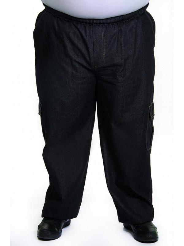 Calça Jeans com Elástico na Cintura Preta