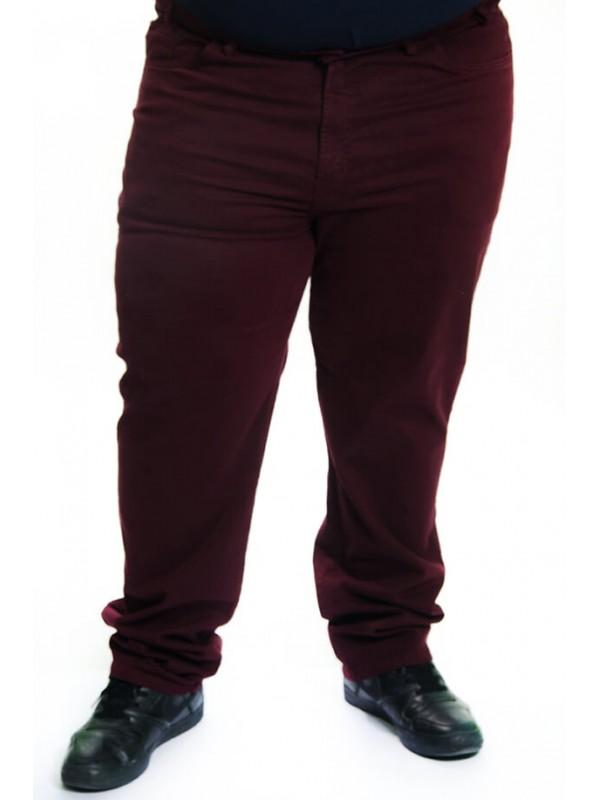 Calça Sarja com Elastano Plus Size Bordo