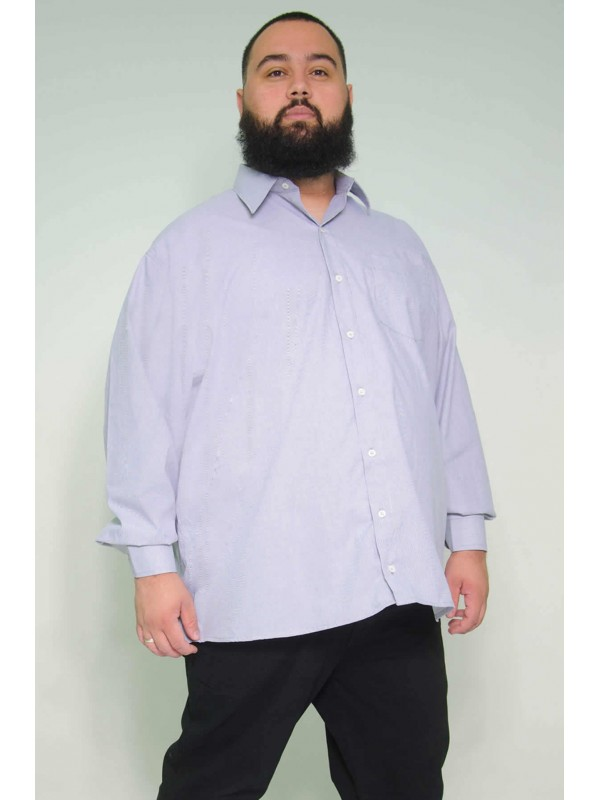 Camisa Social Manga Longa Plus Size Listrada