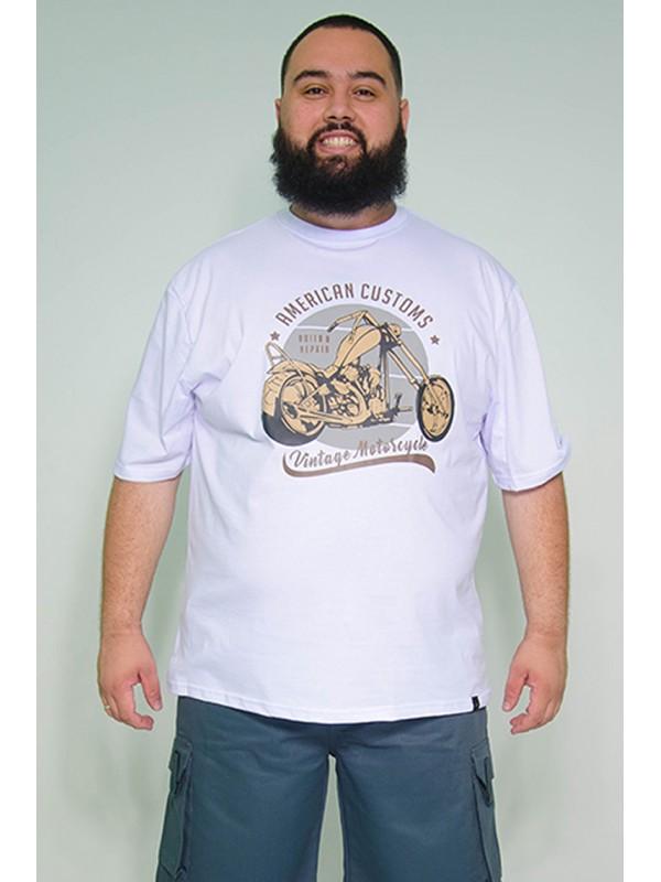 Camiseta Plus Size American Costums Branca