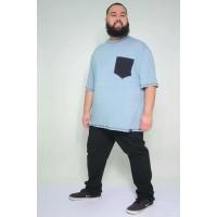 Camiseta Plus Size Flame Azul