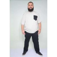 Camiseta Plus Size Flame Cinza