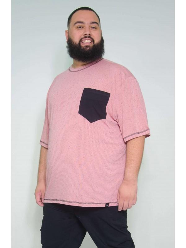 Camiseta Plus Size Flame Rosa