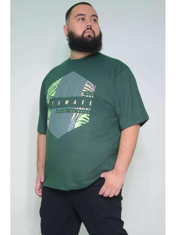 Camiseta Plus Size Hawai Militar