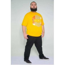 Camiseta Plus Size Hawai Mostarda