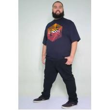 Camiseta Plus Size London Marinho
