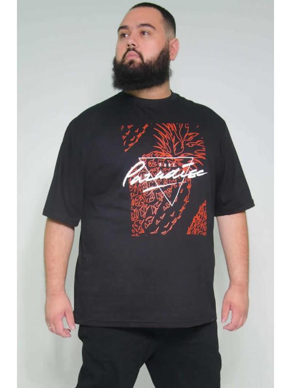 Camiseta Plus Size  Paradise Preta