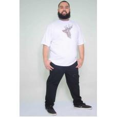 Camiseta Plus Size Cervo Branca