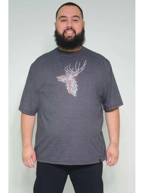Camiseta Plus Size Cervo Grafite