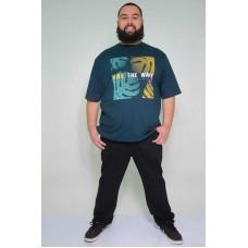 Camiseta Plus Size Vibe The Wave Petróleo