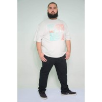 Camiseta Plus Size Vibe The Wave Prata