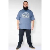 Camiseta Plus Size Cars Mescla Marinho