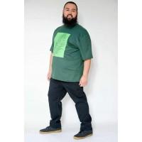 Camiseta Plus Size Folhagem Militar