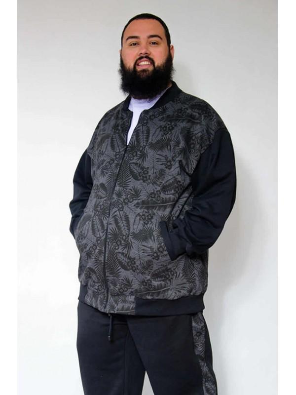 Blusão Moleton Plus Size Bomber Estampado