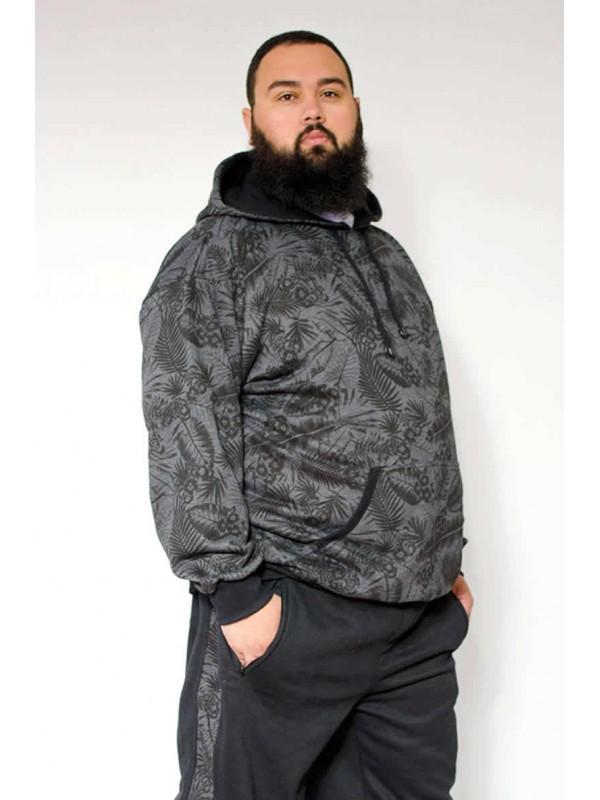 Blusão Moleton Canguru Estampado Plus Size