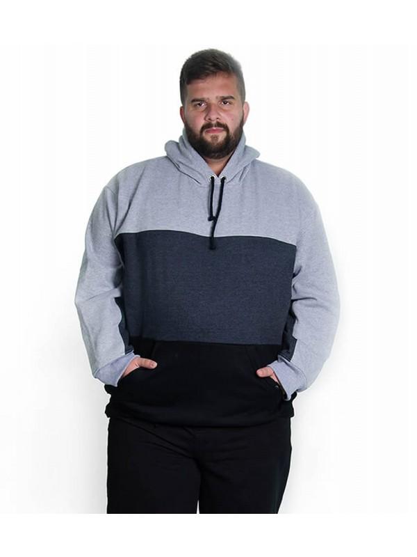 Blusão Moleton Plus Size com Recortes