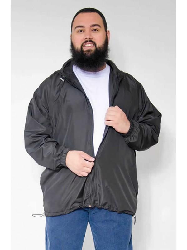 Jaqueta  Corta Vento Plus Size Preto