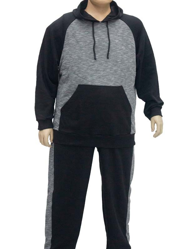 Blusão Moleton Canguru Plus Size Preto