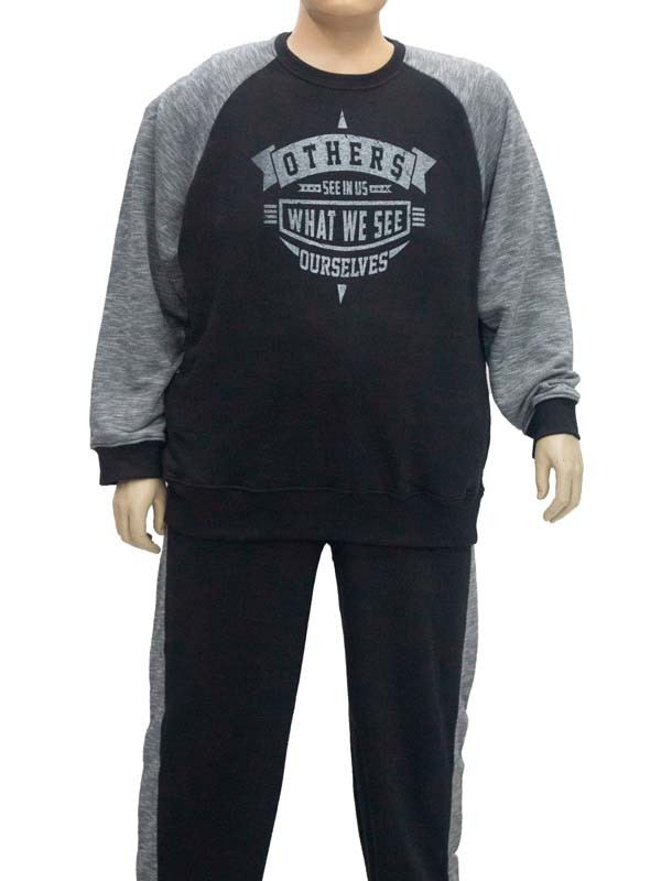 Blusão Moleton Plus Size Preto