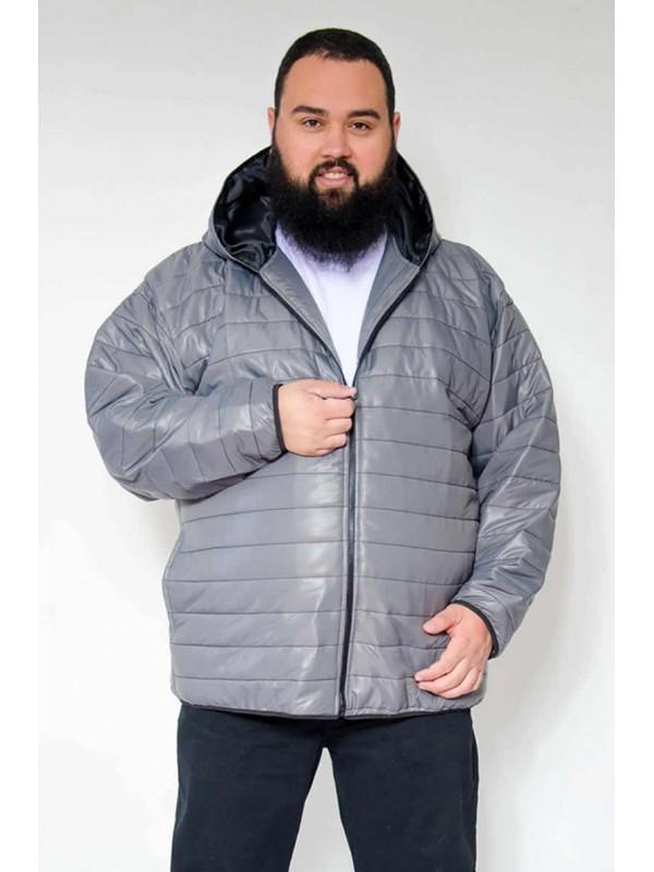 Jaqueta Nylon Plus Size Cinza