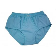 Cueca Tradicional Plus Size Azul - Kit com 3 peças