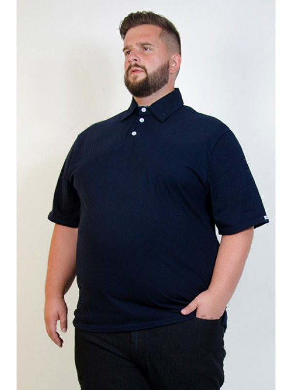 Camiseta Polo Plus Size Marinho