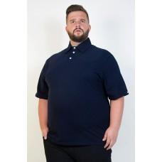 Camiseta Polo Plus Size Marinho
