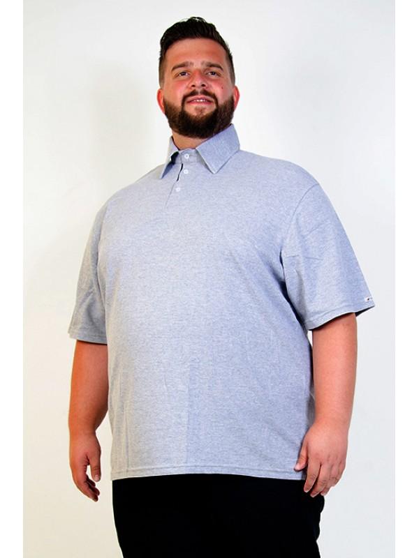 Camiseta Polo Plus Size Mescla