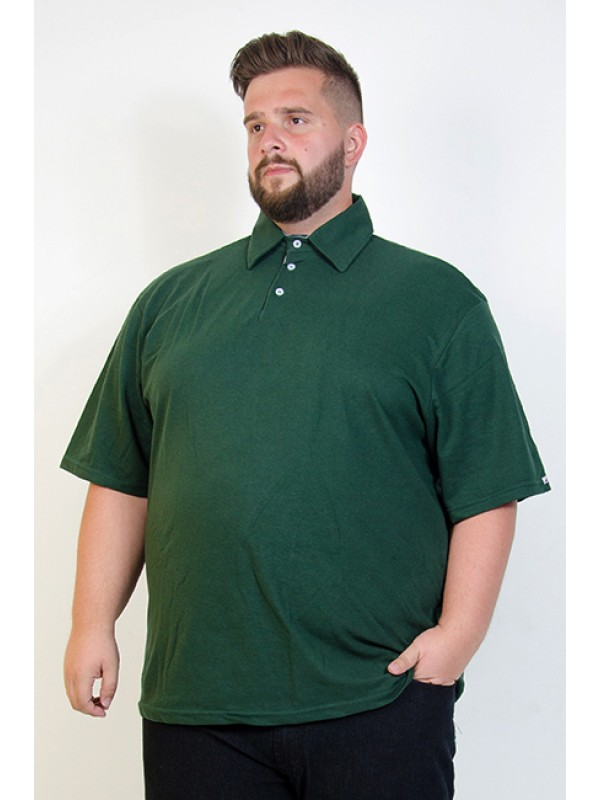 Camiseta Polo Plus Size Militar