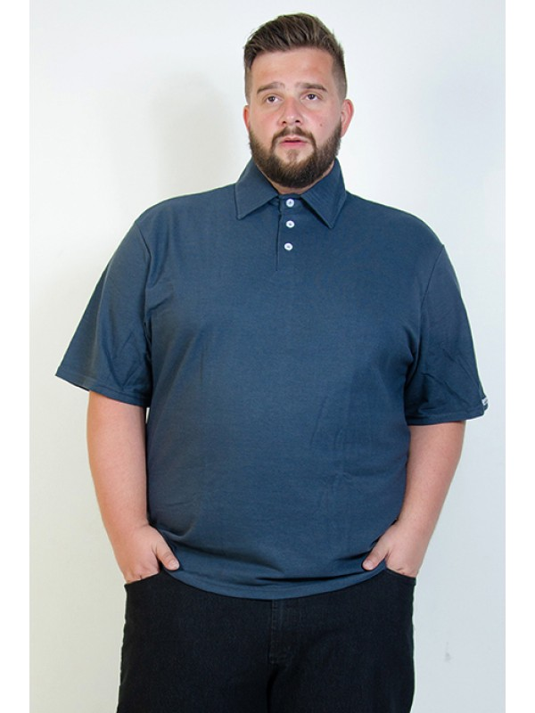Camiseta Polo Plus Size Petróleo