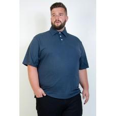 Camiseta Polo Plus Size Petróleo