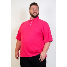 Camiseta Polo Plus Size Pink