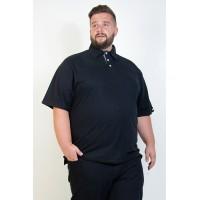 Camiseta Polo Plus Size Preta