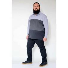 Camiseta Polo com Recortes Plus Size Preto