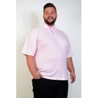 Camiseta Polo Plus Size Rosa