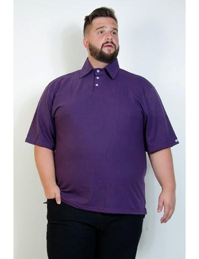 Camiseta Polo Plus Size Berinjela