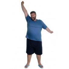 Pijama de Verão Plus Size Azul