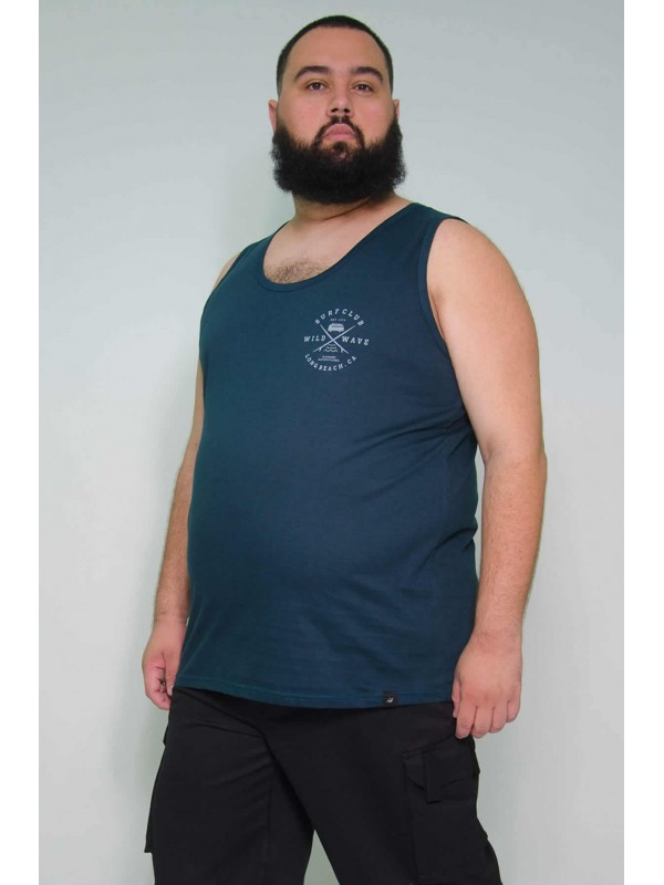 Regata Plus Size Surf Club Petroleo