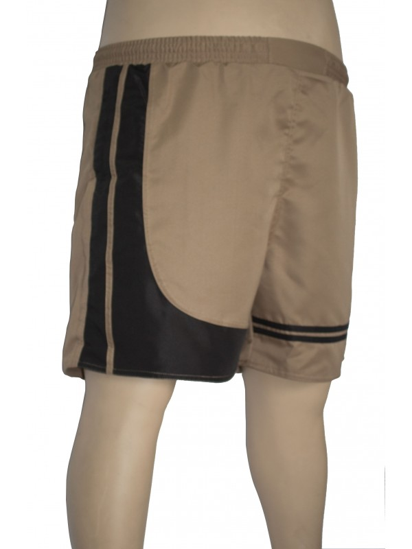 Shorts Microfibra com Recorte Plus Size Caqui