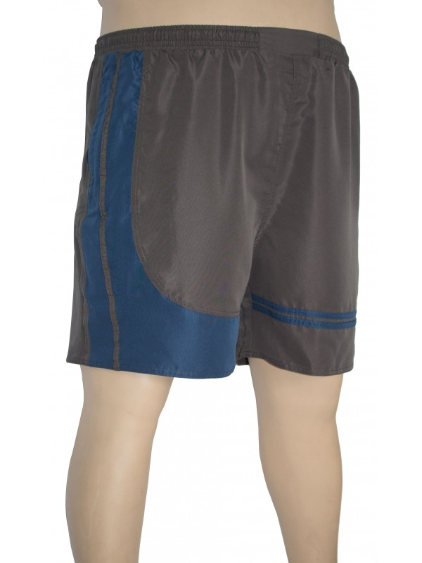 Shorts Microfibra com Recorte Plus Size Chumbo