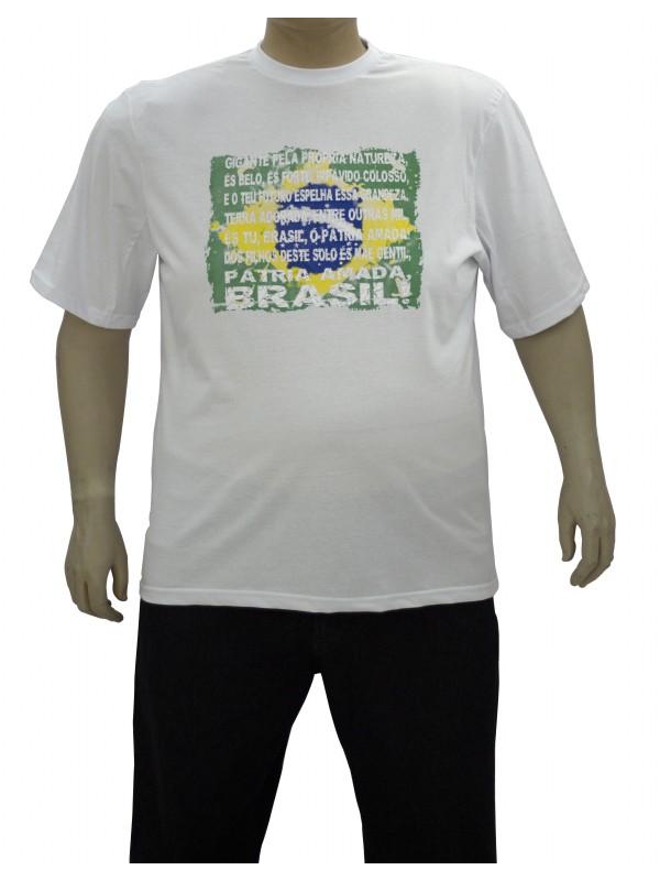 Camiseta Brasil Plus Size Hino