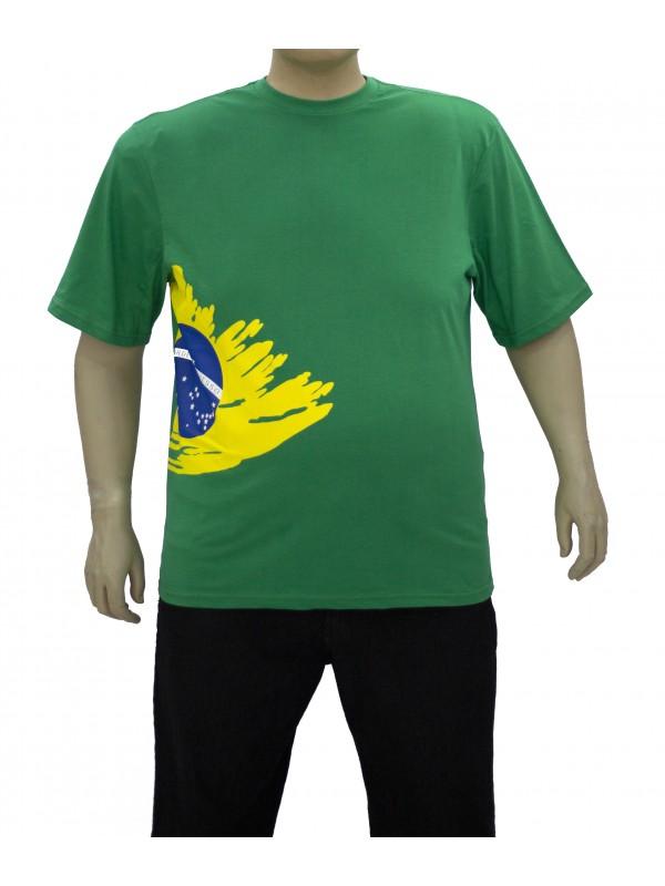 Camiseta Brasil Plus Size Bandeira