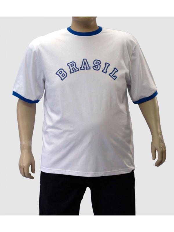 Camiseta Brasil Plus Size Branca