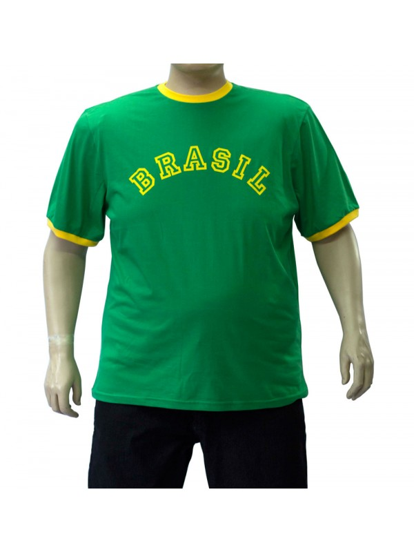 Camiseta Brasil Plus Size Verde