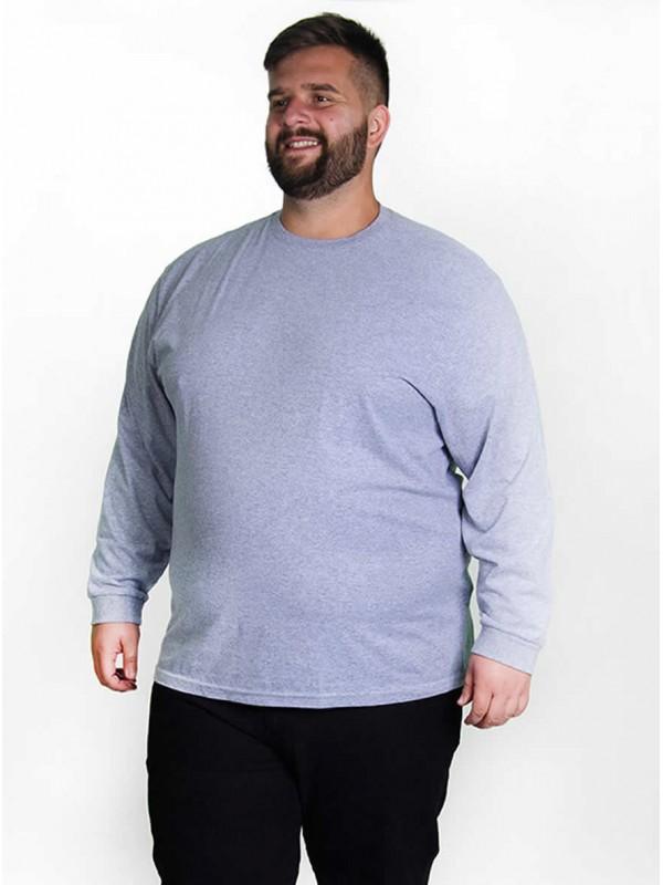 Camiseta Manga Longa Plus Size cor Mescla