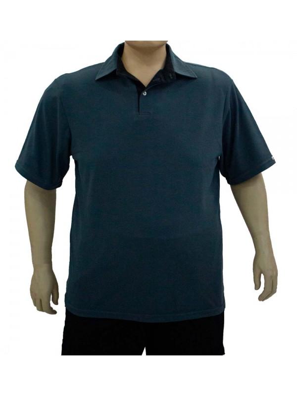 Camiseta Polo Plus Size Chumbo